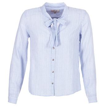 tekstylia Damskie Koszule Cream CAMA STRIPED SHIRT Niebieski