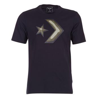 tekstylia Męskie T-shirty z krótkim rękawem Converse DIMENSIONAL LAYER STAR CHEVRON TEE Czarny
