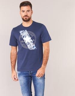 tekstylia Męskie T-shirty z krótkim rękawem Converse CHUCKPATCH CONTRAST SLASH TEE Marine