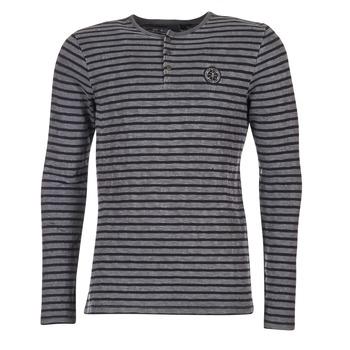 tekstylia Męskie T-shirty z długim rękawem Le Temps des Cerises ROGER Szary