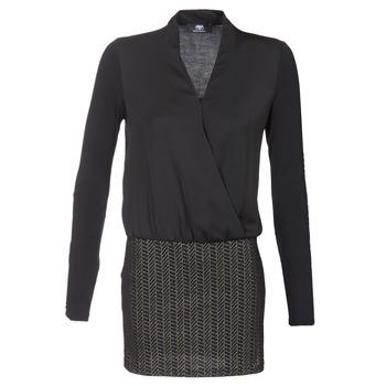 tekstylia Damskie Sukienki krótkie Le Temps des Cerises MALAYA Czarny