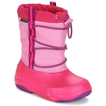 Buty Dziewczynka Śniegowce Crocs Swiftwater waterproof boot Pink