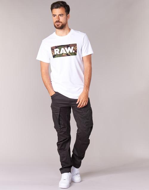 tekstylia Męskie Spodnie bojówki G-Star Raw ROVIC ZIP 3D TAPERED Raven