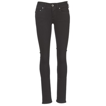 tekstylia Damskie Jeansy straight leg G-Star Raw MIDGE SADDLE MID STRAIGHT Czarny