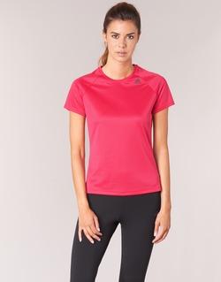tekstylia Damskie T-shirty z krótkim rękawem adidas Performance D2M TEE LOSE Różowy
