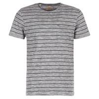 tekstylia Męskie T-shirty z krótkim rękawem Selected FINN Szary / Czarny