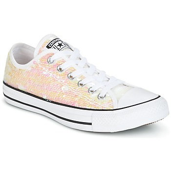 Buty Damskie Trampki niskie Converse CHUCK TAYLOR ALL STAR SEQUINS OX WHITE/BLACK/WHITE Biały / Paillettes