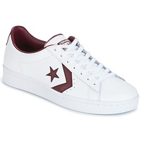 Buty Męskie Trampki niskie Converse PL 76 FOUNDATIONAL LEATHER WITH ELEVATED DETAILING OX WHITE/DEEP Biały / BORDEAUX