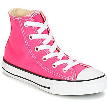 Buty Dziewczynka Trampki wysokie Converse CHUCK TAYLOR ALL STAR SEASONAL HI PINK POW Różowy