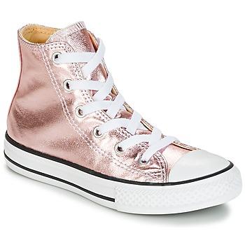Buty Dziewczynka Trampki wysokie Converse CHUCK TAYLOR ALL STAR METALLIC SEASONAL HI METALLIC SEASONAL HI Różowy / Biały / Czarny