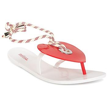 Buty Damskie Japonki Melissa BLISS II SP AD Biały / Czerwony