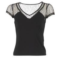 tekstylia Damskie T-shirty z krótkim rękawem Morgan DSTAF Czarny