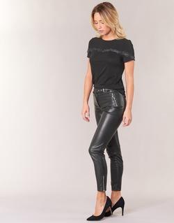 tekstylia Damskie Spodnie z pięcioma kieszeniami Morgan PEANUT Czarny