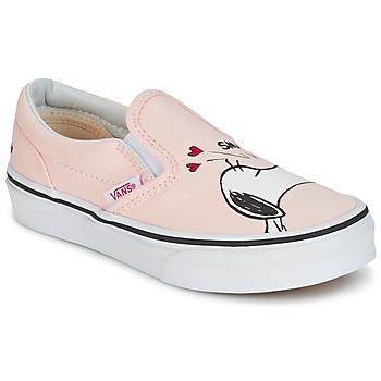 Buty Dziewczynka Tenisówki Vans TD CLASSIC SLIP-ON SNOOPY Różowy