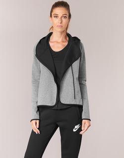 tekstylia Damskie Bluzy Nike TECH FLEECE CAPE FZ Szary