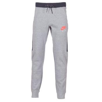 tekstylia Męskie Spodnie dresowe Nike AIR JOGGER FLEECE Szary / Czerwony