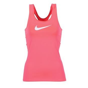 tekstylia Damskie Topy na ramiączkach / T-shirty bez rękawów Nike NIKE PRO COOL TANK Różowy / Biały
