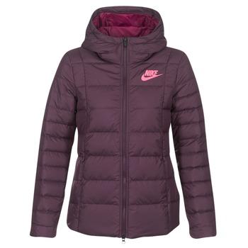 tekstylia Damskie Kurtki pikowane Nike DOWN FILL JKT Bordeaux / Różowy