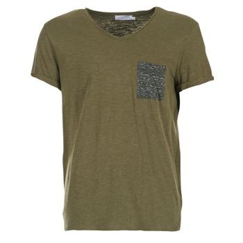 tekstylia Męskie T-shirty z krótkim rękawem Eleven Paris ABICO KAKI