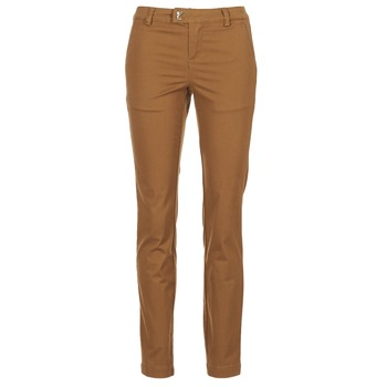 tekstylia Damskie Spodnie z pięcioma kieszeniami Les P'tites Bombes CHINAI COGNAC