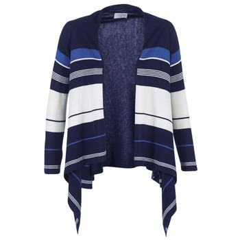tekstylia Damskie Swetry rozpinane / Kardigany Casual Attitude IHARINE Marine / Biały