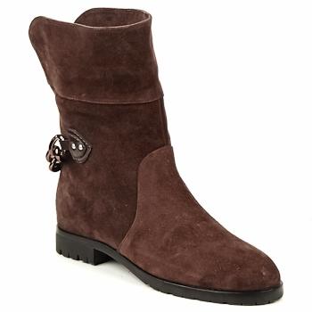 Buty Damskie Buty za kostkę Marc Jacobs CHAIN BOOTS Brązowy