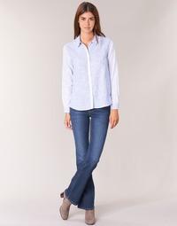 tekstylia Damskie Jeansy bootcut Pepe jeans PIMLICO Niebieski