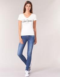 tekstylia Damskie Jeansy skinny Pepe jeans SOHO Niebieski / Medium