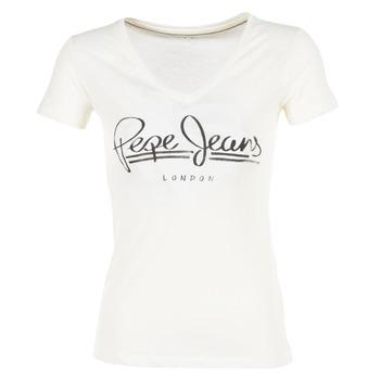 tekstylia Damskie T-shirty z krótkim rękawem Pepe jeans BRENDA Biały