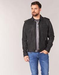 tekstylia Męskie Kurtki skórzane / z imitacji skóry Pepe jeans NARCISO Czarny