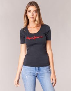 tekstylia Damskie T-shirty z krótkim rękawem Pepe jeans MARIA Czarny