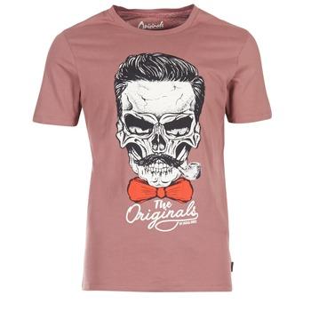 tekstylia Męskie T-shirty z krótkim rękawem Jack & Jones CRIPTIC ORIGINALS Różowy