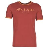 tekstylia Męskie T-shirty z krótkim rękawem Jack & Jones RETRO ORIGINALS Czerwony