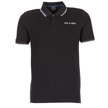 tekstylia Męskie Koszulki polo z krótkim rękawem Jack & Jones WAZ ORIGINALS Czarny