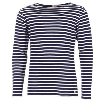 tekstylia Męskie T-shirty z długim rękawem Armor Lux GELGA MARINE / Biały