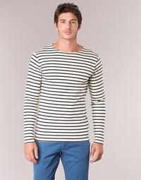 tekstylia Męskie T-shirty z długim rękawem Armor Lux GELGA Biały / Marine