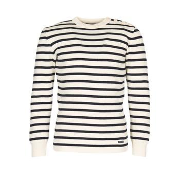 tekstylia Męskie Swetry Armor Lux GROIM Biały / MARINE