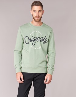 tekstylia Męskie Bluzy Jack & Jones SWEEP ORIGINALS Zielony