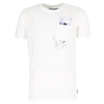 tekstylia Męskie T-shirty z krótkim rękawem Jack & Jones CHECK ORIGINALS Biały