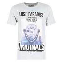 tekstylia Męskie T-shirty z krótkim rękawem Jack & Jones FASTER ORIGINALS Szary