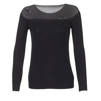 tekstylia Damskie Swetry Armani jeans LAMOC Czarny