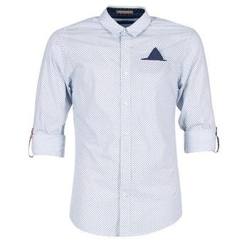 tekstylia Męskie Koszule z długim rękawem Scotch & Soda DARLU Biały / Niebieski