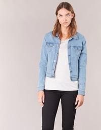 tekstylia Damskie Kurtki jeansowe Yurban IHELEFI Niebieski / Clair