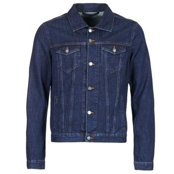 tekstylia Męskie Kurtki jeansowe Yurban IHEDEM Niebieski