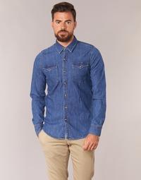tekstylia Męskie Koszule z długim rękawem Casual Attitude IHERZI Niebieski / Medium