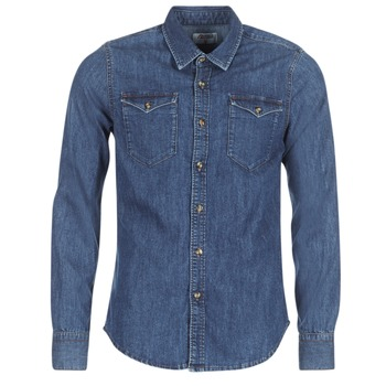 tekstylia Męskie Koszule z długim rękawem Yurban IHERZI Niebieski / Medium