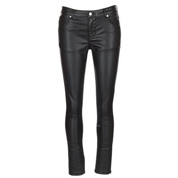 tekstylia Damskie Spodnie z pięcioma kieszeniami Moony Mood HENDUI Czarny