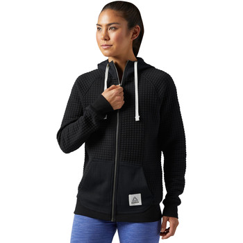 Bluzy Reebok Sport Bluza z kapturem Elements Quilted Full Zip