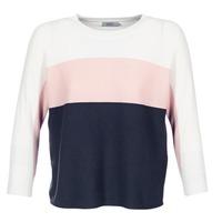 tekstylia Damskie Swetry Only REGITZE Biały / Różowy / MARINE
