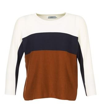 tekstylia Damskie Swetry Only REGITZE Biały / MARINE / Brązowy